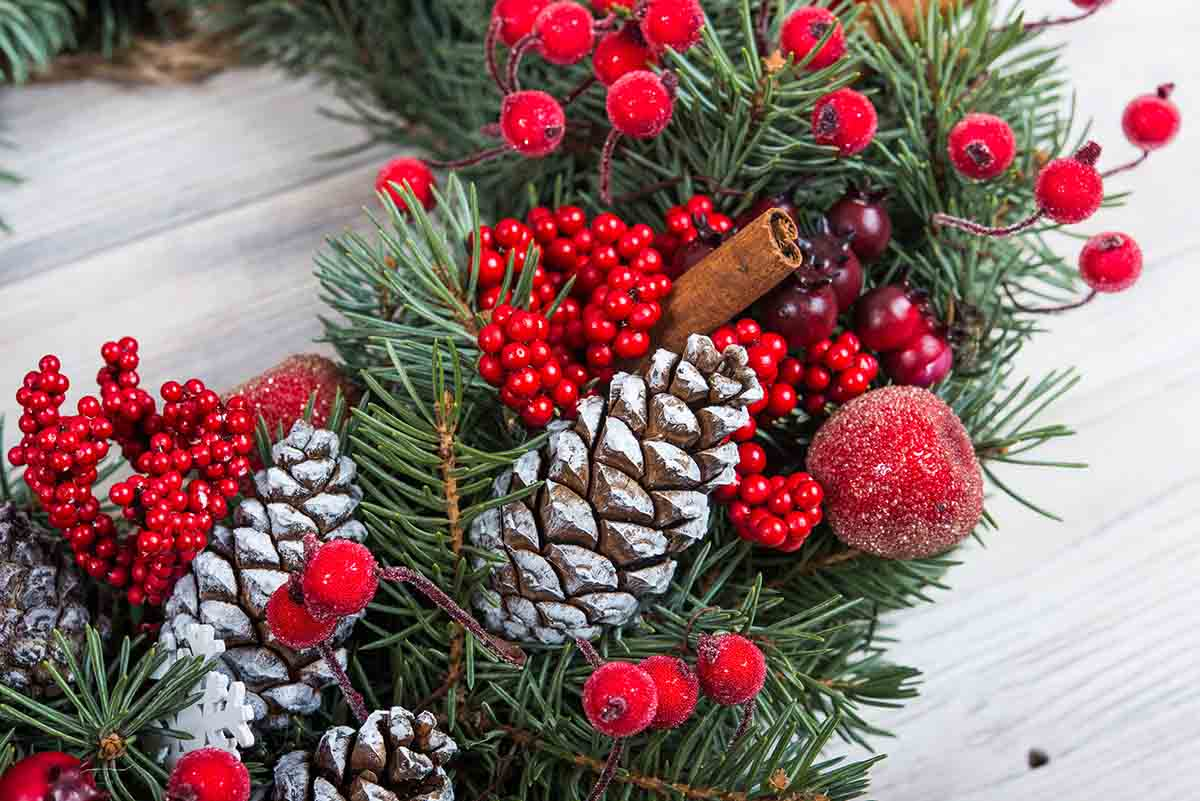 We carry a variety of Christmas items, including trees and wreaths
